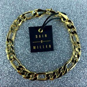 Bain Miller Men's Bracelet Figaro Chain  Brass